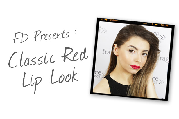 Classic Red Lip Look