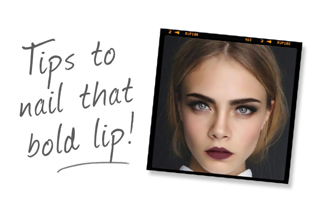 Tips to nail that bold lip!