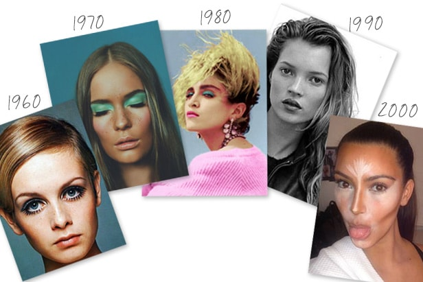 makeup from 1960 through to 2000
