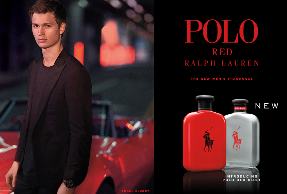 Ralph Lauren Polo Red Rush – Stars Ansel Elgort!